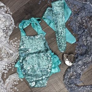 Boutique Baby Girls Glitzy Romper & Tie